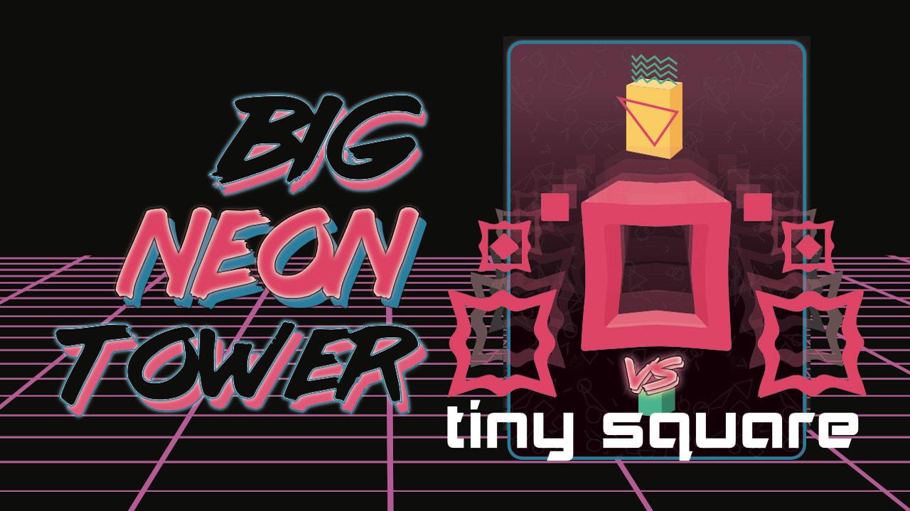 Image Big NEON Tower VS Tiny Square